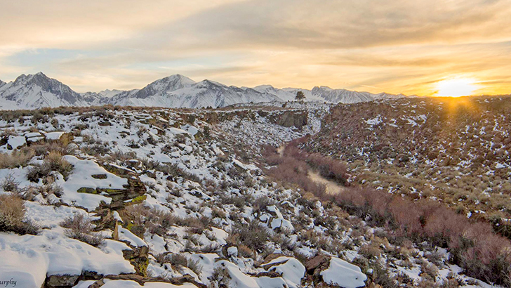 Sunrise over Hot Creek, Inyo National Forest. Photo by Leeann Murphy.