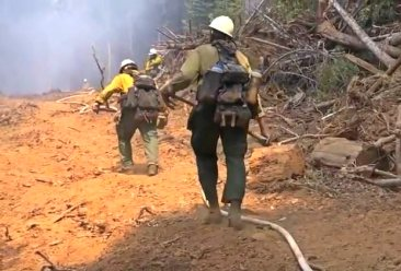 Steep terrain firefighters