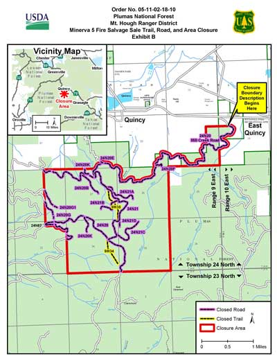 Minerva 5 Fire Salvage Closure Map