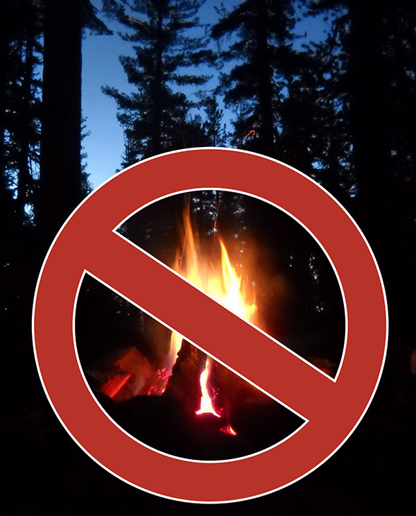 No campfires graphic