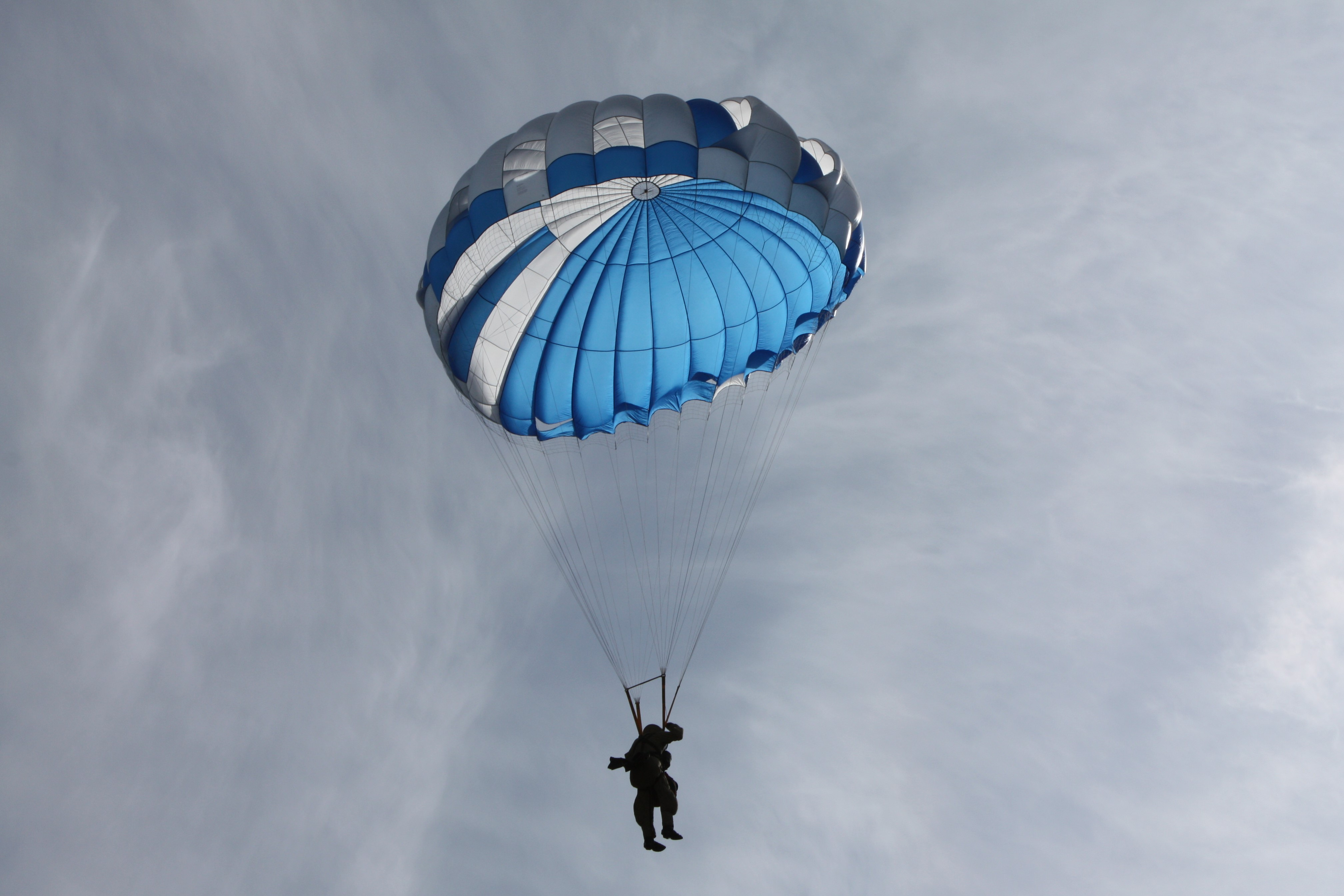 Silhouette of Smokejumper