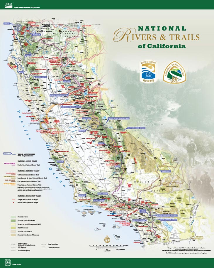National Rivers & Trails of California