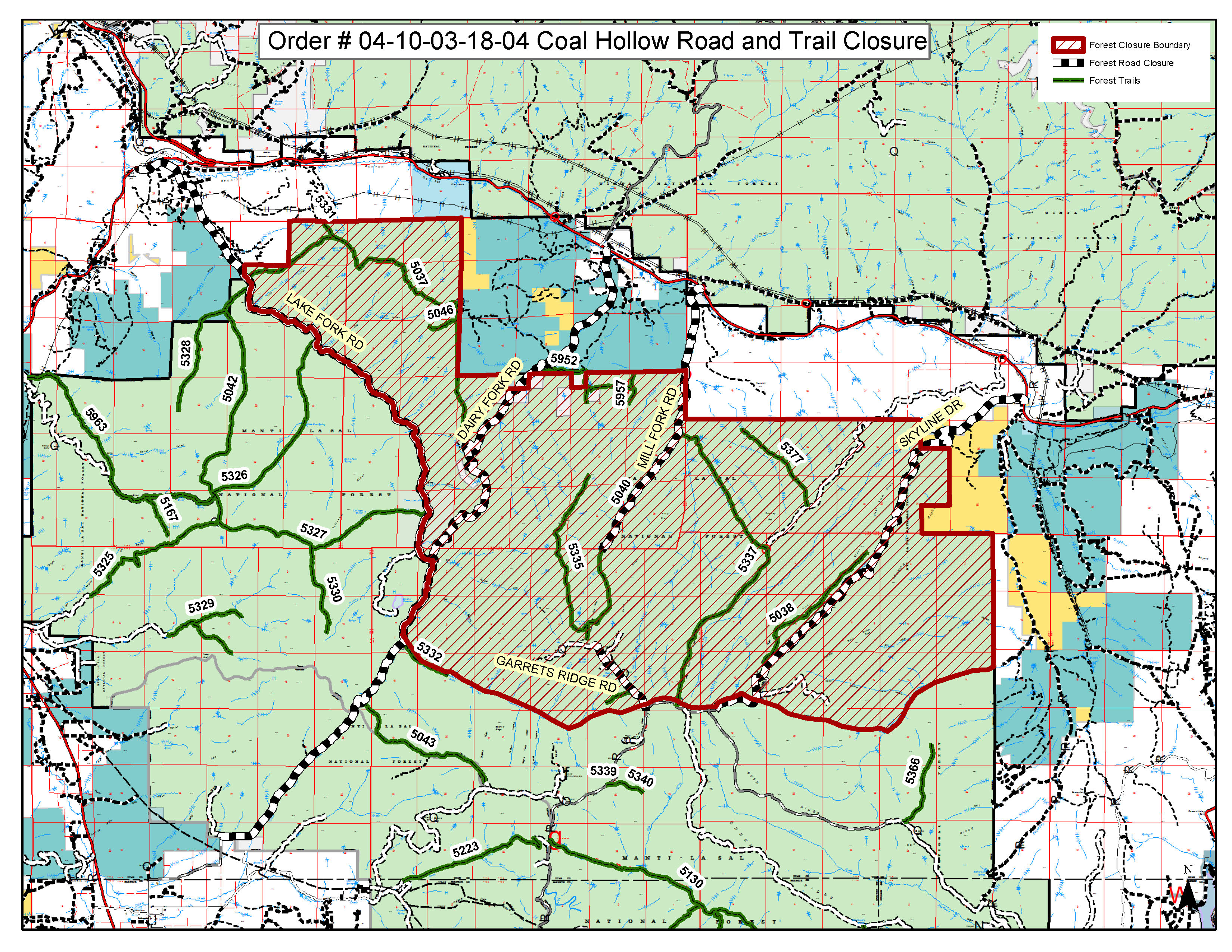 Current La Fire Map.Manti Lasal National Forest Home