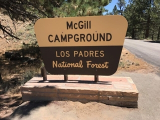 McGill Campground Sign