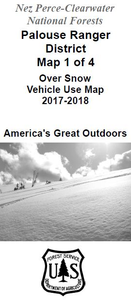 Cover of the 2017-2018 Palouse Over Snow Map