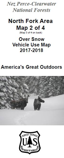 Cover of the 2017-2018 North Fork Over Snow Map
