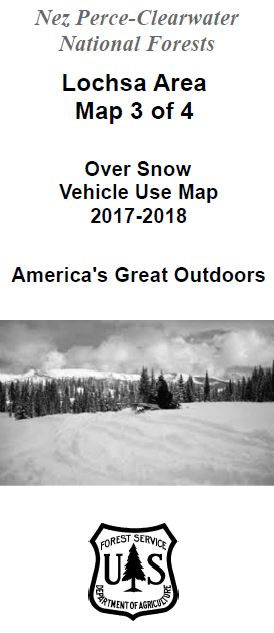 Cover of the 2017-2018 Lochsa Over Snow Map