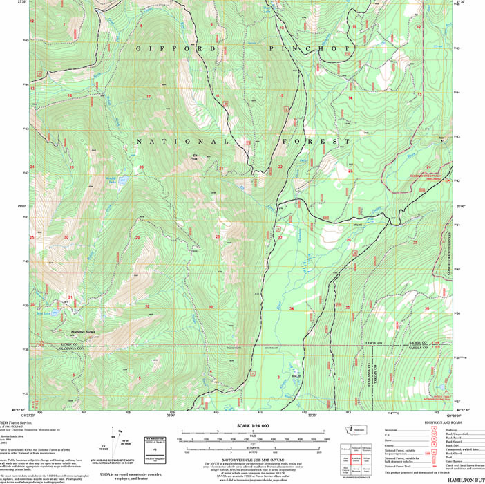 Forest topography map