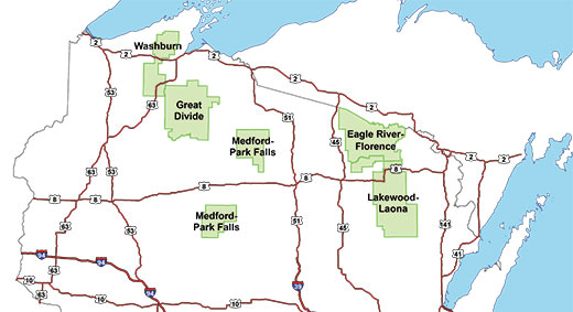 chequamegon nicolet national forest maps publications