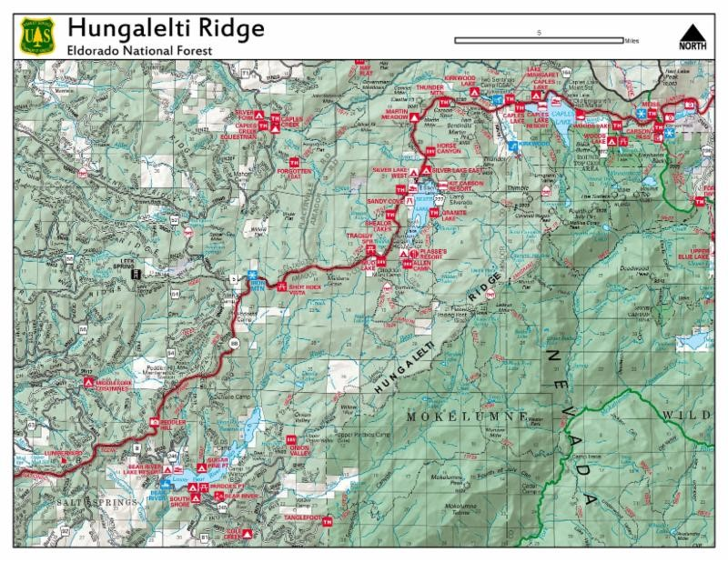graphic of the recreation map with Hungalelti ridge pointed out.