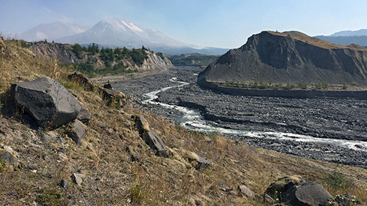 Erosion in the Mount St. Helens drainage