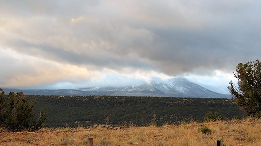 Snow on the Escudilla early October (Forest Service photo)