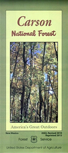 Front cover of the Carson National Forest map