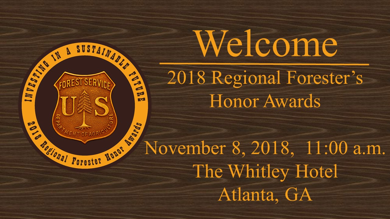 Welcome to the Region 8 Regional Forester Awards