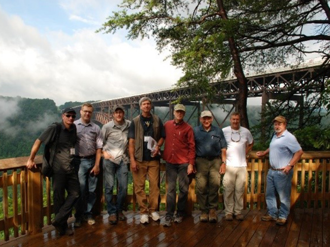 Group participants at the observation deck at the New River Gorge overlook