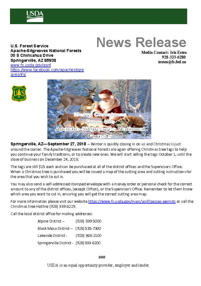 Apache Sitgreaves National Forests Passes Permits