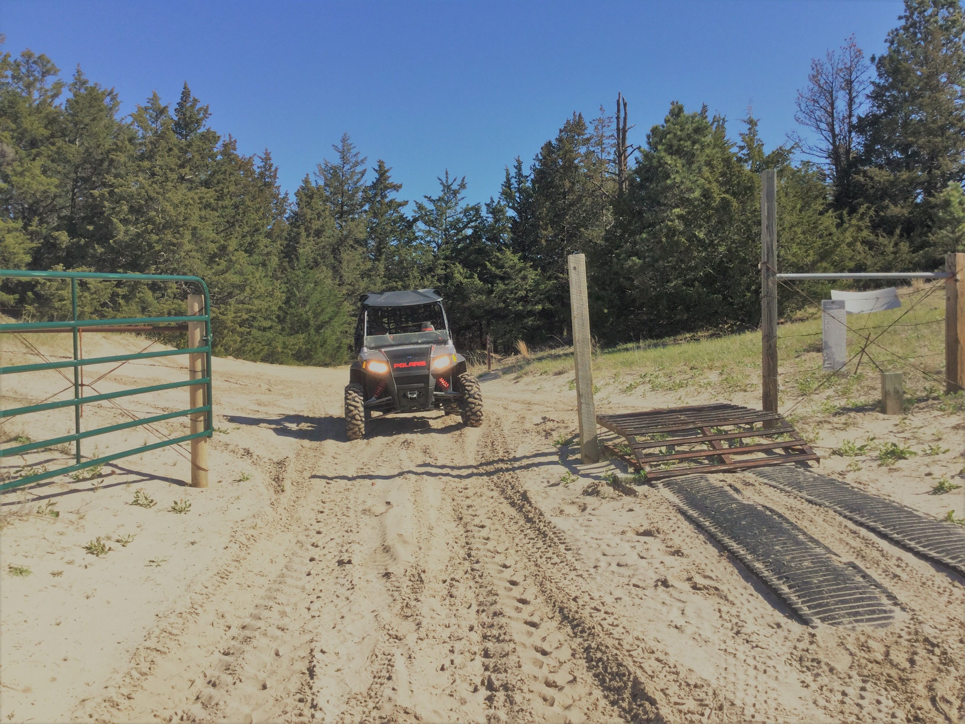 Side-by-side on Bessey OHV Trail System