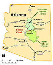 Fossil Creek location map