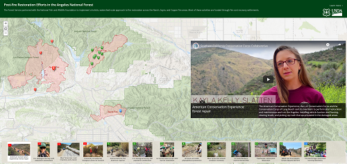 fire restoration story map thumbnail