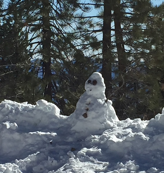 Snowperson on Mt Pinos 12/11/2018
