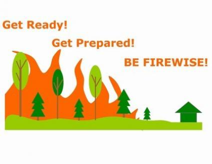 Graphic: Get Ready. Get Prepared. Be Firewise!