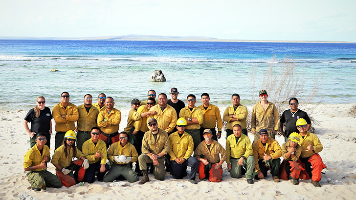 Wildland firefighters from Saipan and Forest Service employees from California show their long-standing relationship and camaraderie during times of emergency.