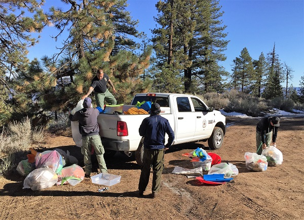 Cleanup on Mt Pinos 1/30/2019