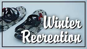 Winter recreation opportunities on the forest.