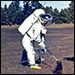 Astronaut at Apollo Training Field