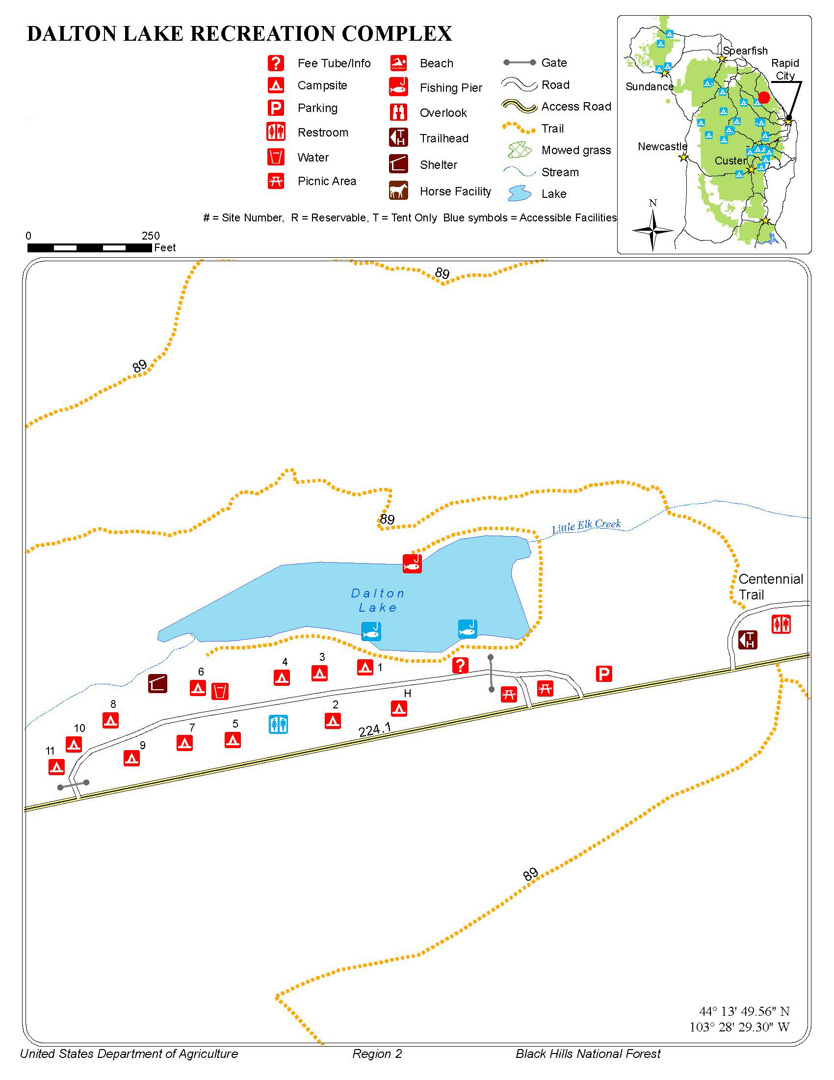 Black Hills National Forest - Dalton Lake Campground on map of north georgia campgrounds, map of north dakota casinos, map of north dakota airports,