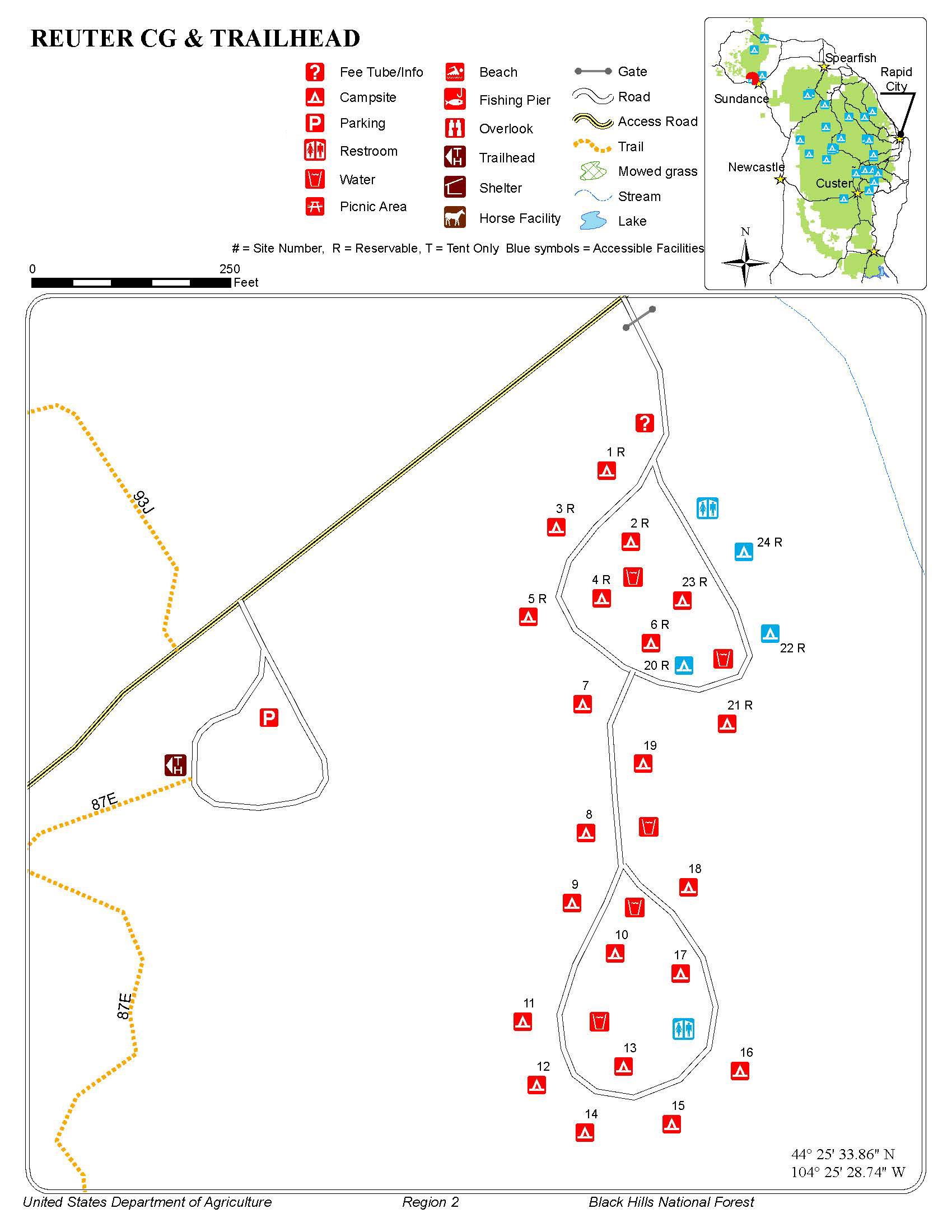 Reuter Campground Map