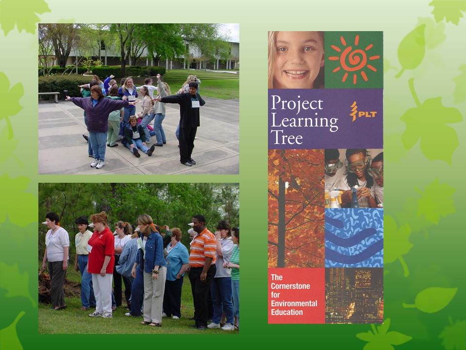 Photo of the Project Learning Tree title slide