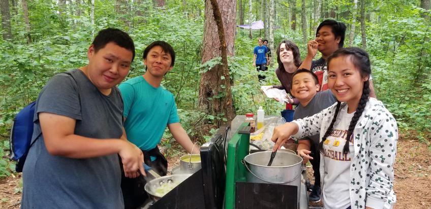 Urban Roots youth enjoy camping trip on the Chippewa National Forest