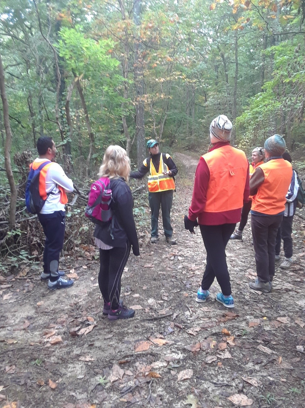 Last fall, participants braved temperatures in the 30s for the first wellness outing.