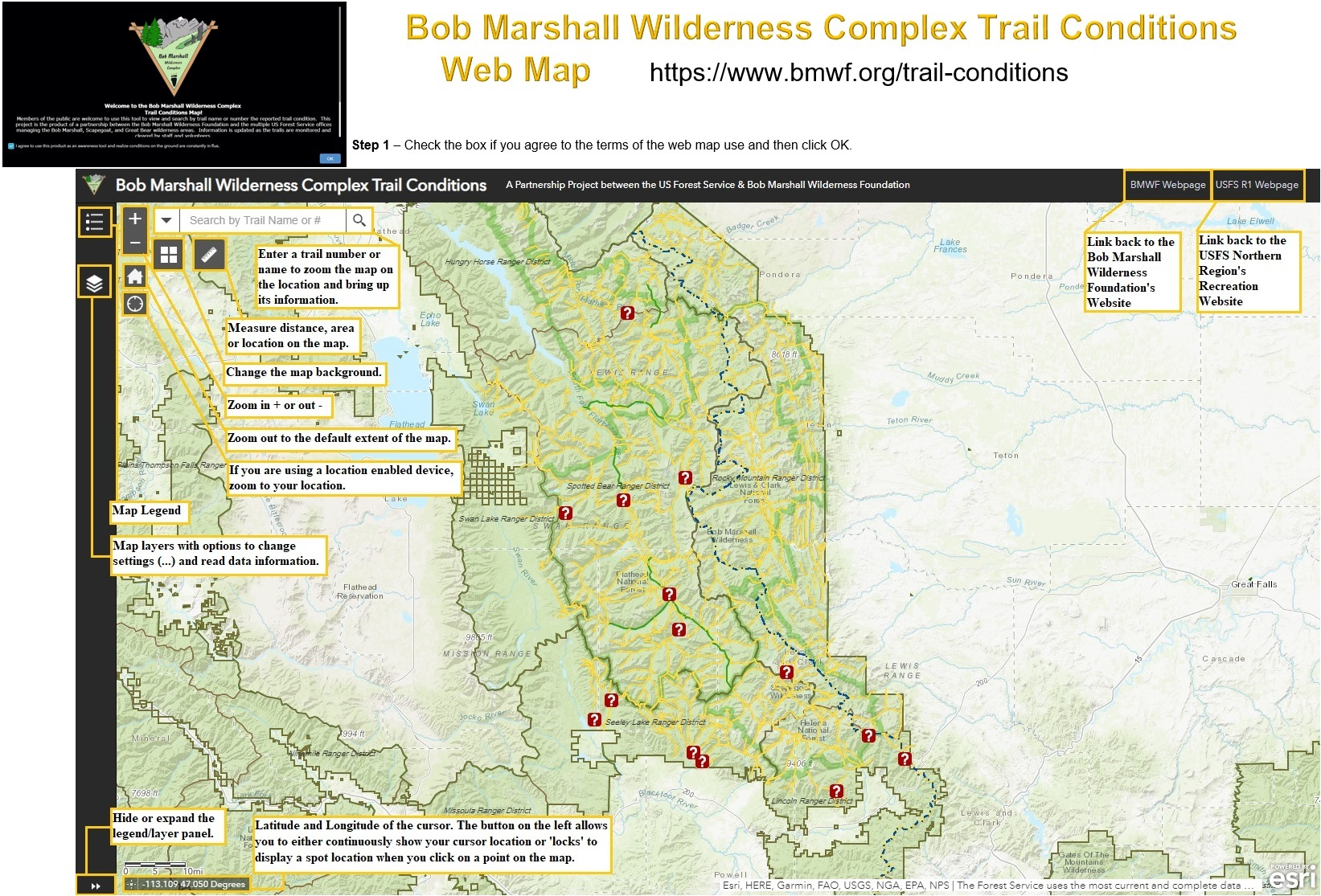 Us Forest Service Interactive Map Flathead National Forest   Visit Us