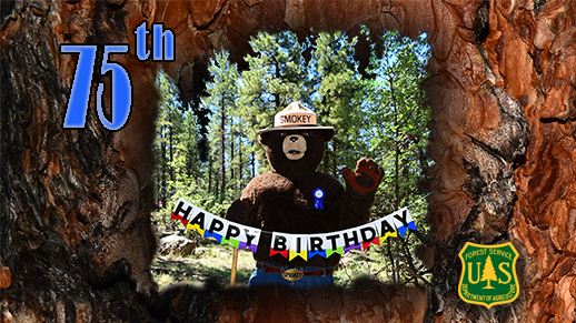 Smokey Bear celebrating 75th birthday