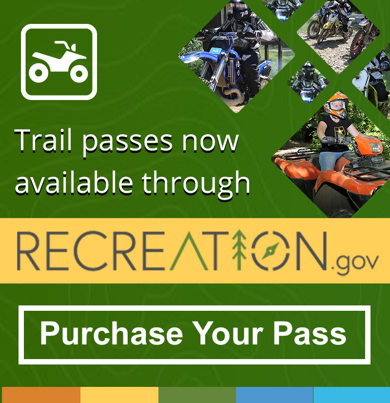 Permits available through Recreation.gov - Get a Permit