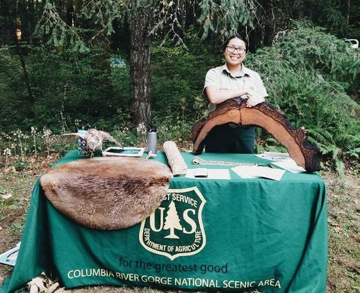 Field Ranger at a campground program table.