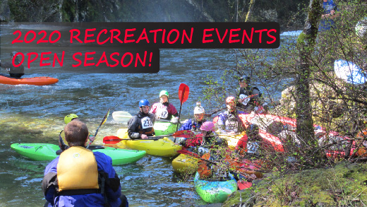 Click for info about recreation events permits for 2020.