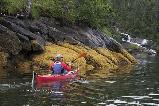 A rafdter in Prince William Sound.