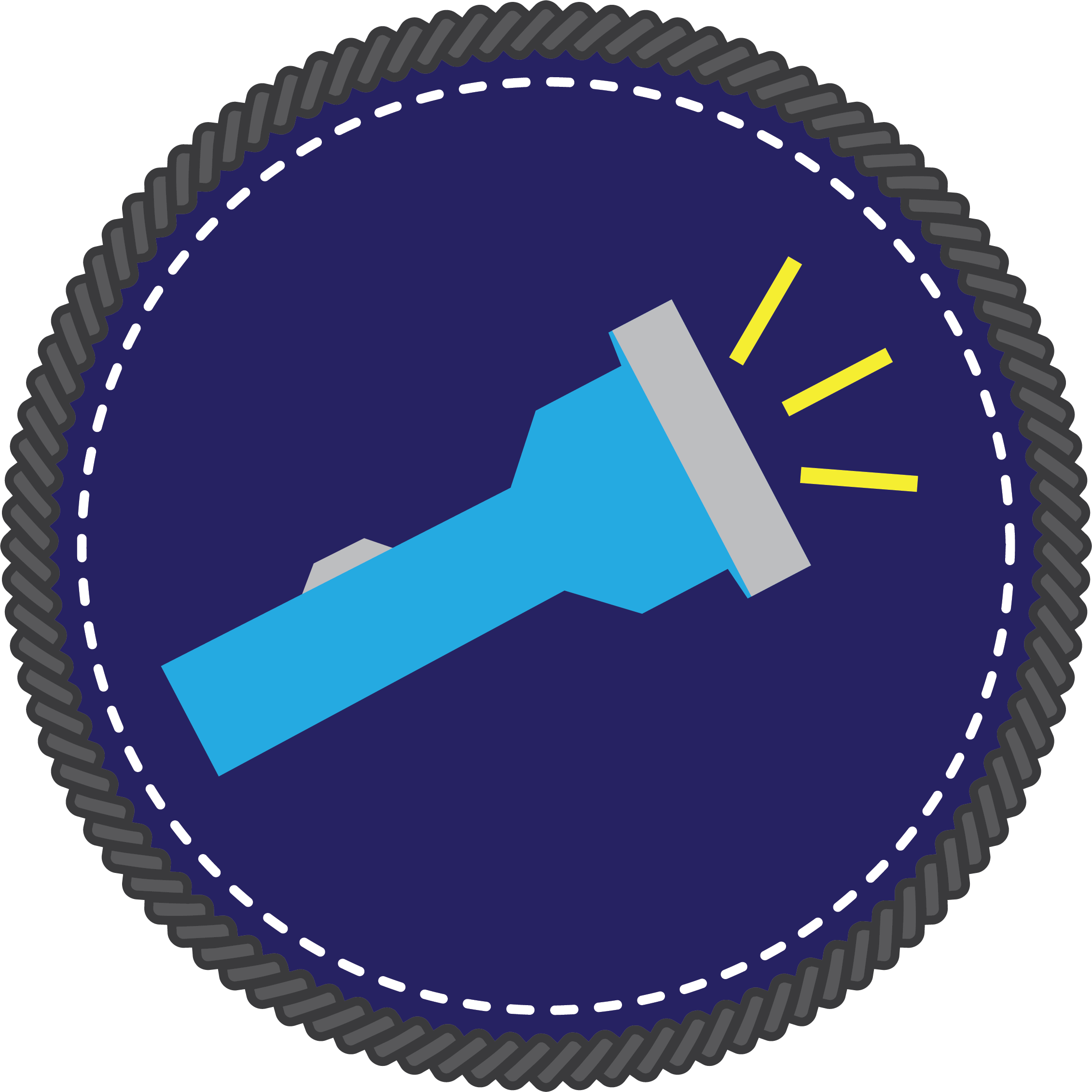 Flashlight Badge icon