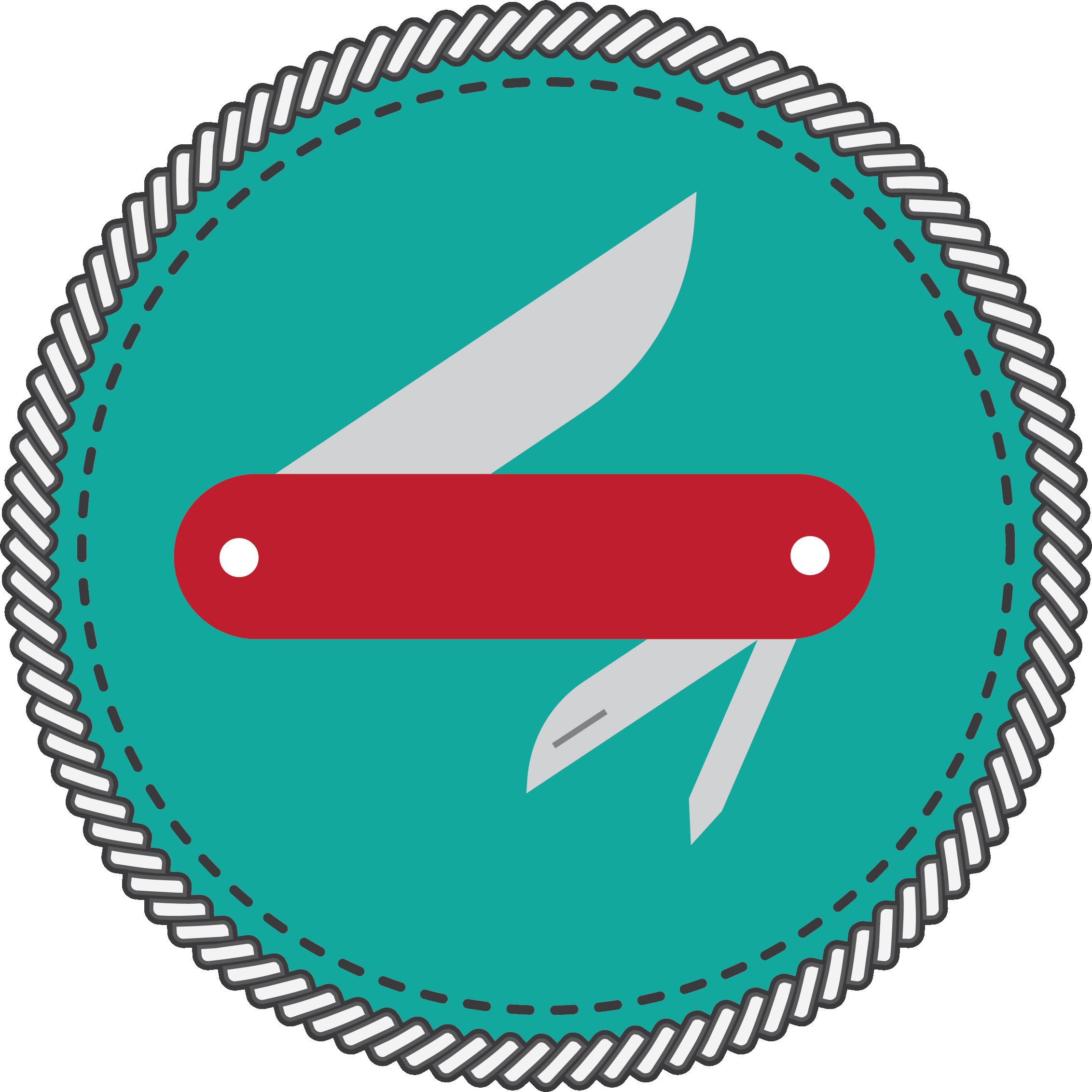 Pocket Knife Badge Icon