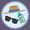 Sun Protection Badge Icon