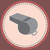 Whistle Badge Icon