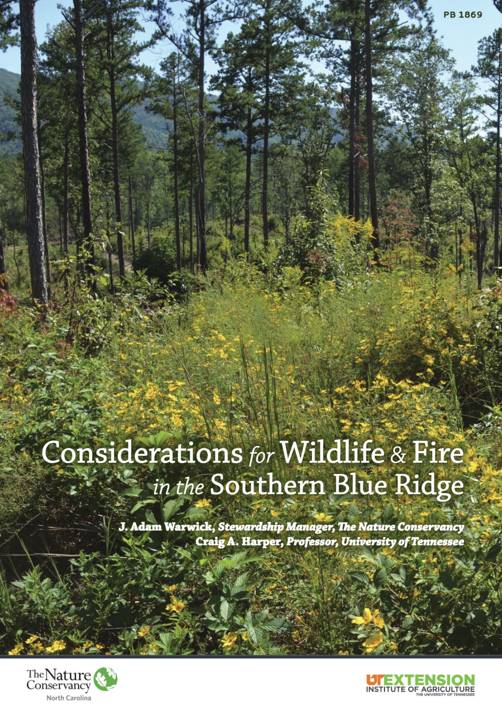 Considerations for Wildlife & Fire in the Southern Blue Ridge