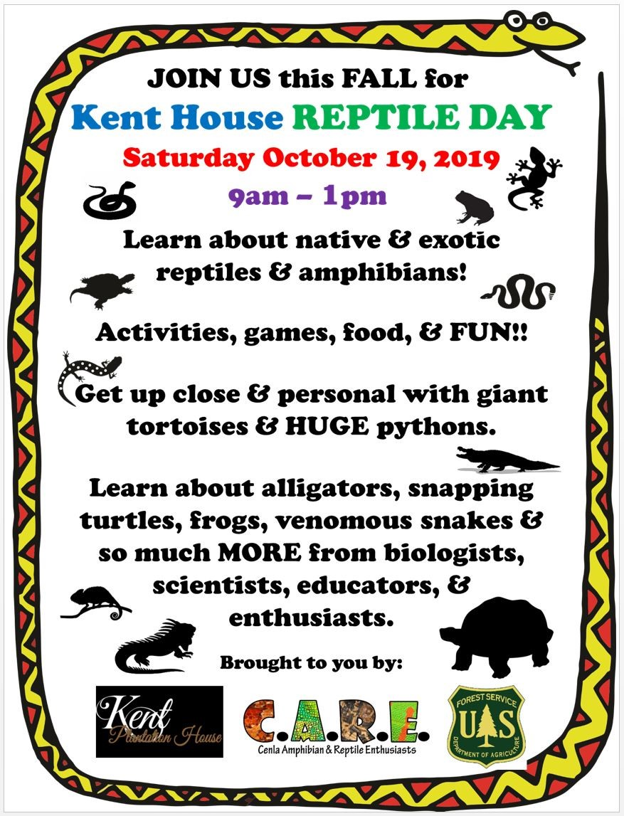 2019 Reptile Day Flyer