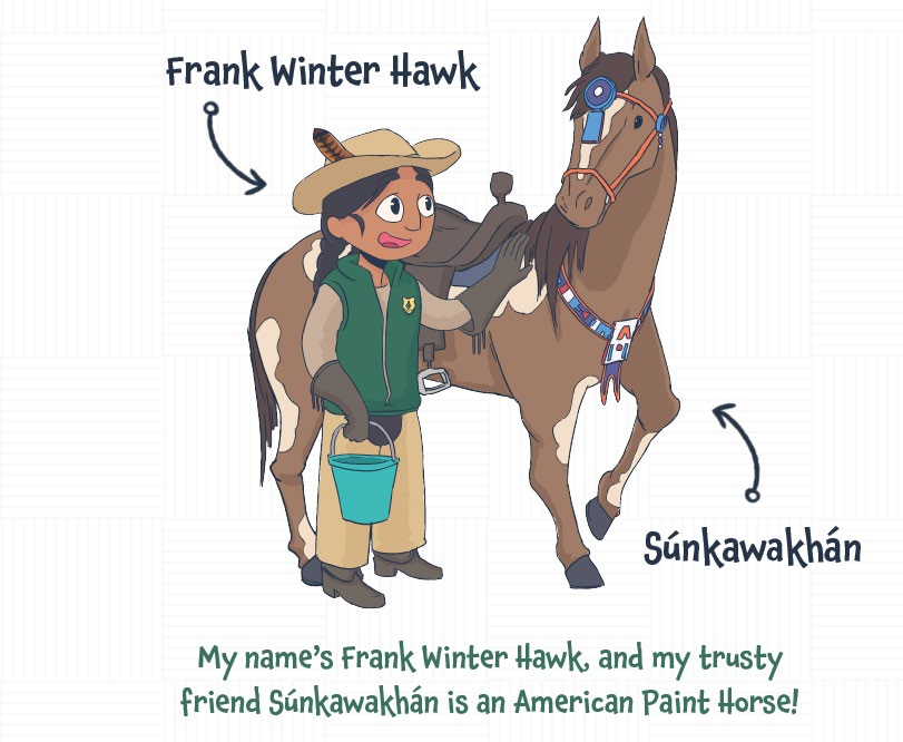 Frank Winter Hawk avatar with his horse
