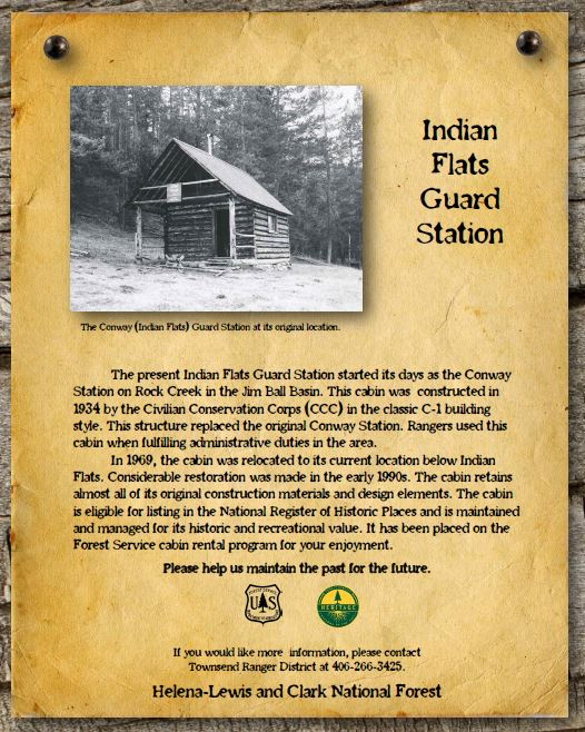 An interpretive sign for Indian Flats Guard School