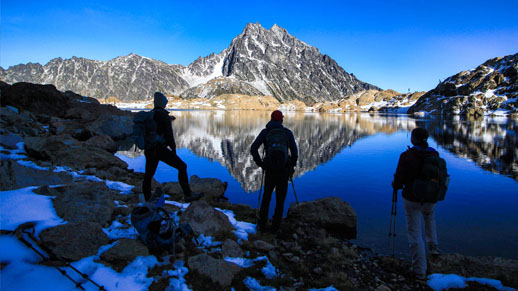 Hikers Alpine Lakes Wilderness