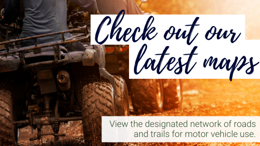 Learn about the motor vehicle maps across the forest.